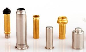 Metallhülsen von VE-CA aus verschieden Materialien.